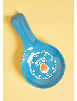 Take Tulip Ceramic Spoon Rest by Modcloth