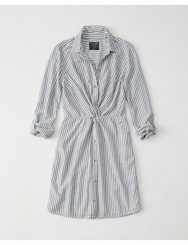 Knot Front Shirtdress by Abercrombie & Fitch