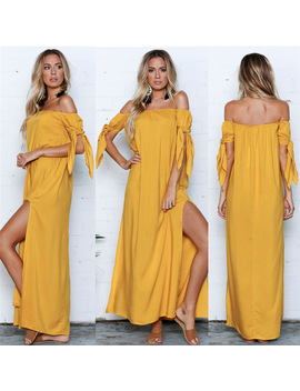 2018 Summer Dress Women Sexy Beach Bandage Slash Neck Dress Bodycon Holiday Backless Party Dress Solid Vestidos Wholesale #Fm14 by Miarhb