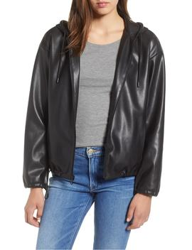 Faux Leather Hoodie by Sam Edelman