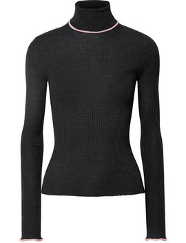 Ribbed Merino Wool Turtleneck Sweater by Acne Studios
