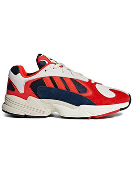 Adidasred, White And Black Yung 1 Suede Leather And Cotton Sneakershome Men Shoes Low Tops by Adidas