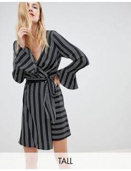 Vero Moda Tall Striped Wrap Dress by Vero Moda
