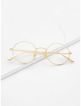 Clear Lens Round Glasses by Romwe