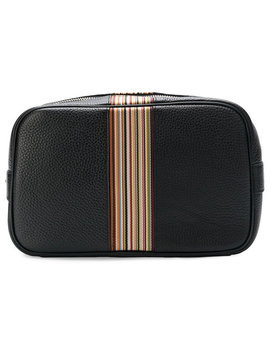 Paul Smithstripe Detail Wash Baghome Men Accessories Wash Bags by Paul Smith