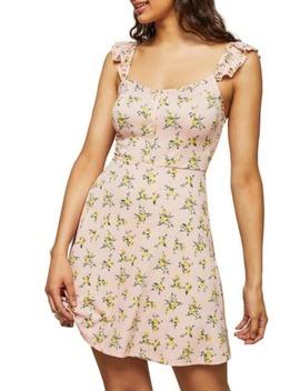 Floral Frill Sleeve Tea Dress by Miss Selfridge
