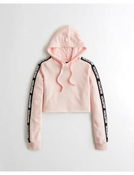 Logo Ultra Crop Hoodie by Hollister