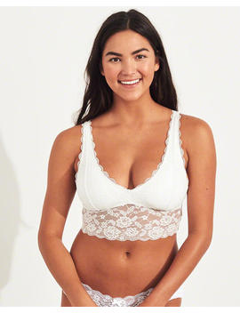 Ultra Longline Triangle Bralette With Removable Pads by Hollister