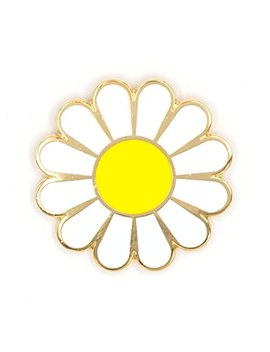 These Are Things White Daisy Enamel Pin by These Are Things