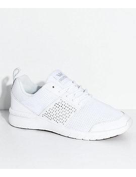 Supra Scissor White &Amp; Gum Knit Shoes by Supra