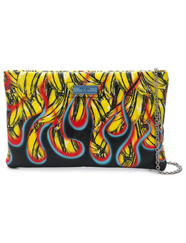Pradabanana Flame Pouchhome Women Bags Clutch Bags by Prada