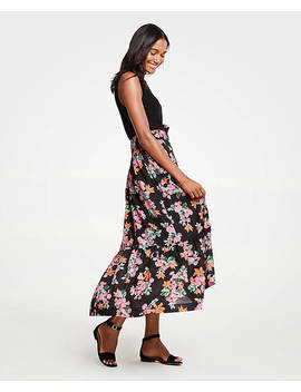 Floral Garden Belted Maxi Skirt by Ann Taylor
