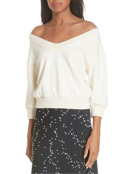 French Terry Crop Sweater by 3.1 Phillip Lim