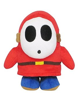"Little Buddy Super Mario All Star Collection 1591 Shy Guy Stuffed Plush, 6.5"" by Little Buddy"