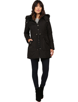 Quilted Fill Puffer W/ Drawstrings Hood And Removable Faux Fur by Jessica Simpson