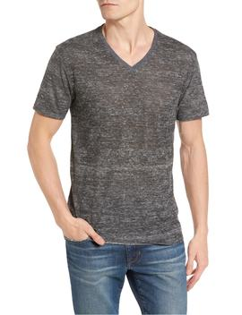 Burnout V Neck T Shirt by The Rail