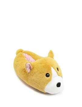 Faux Fur Dog Slippers by Forever 21