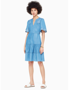 Indigo Railroad Dress by Kate Spade