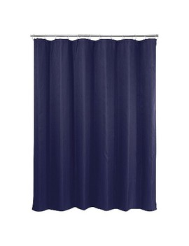 Basket Weave Shower Curtain Navy by Target