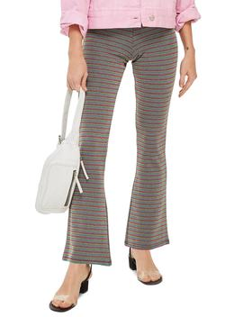 Petite Lurex Stripe Flare Pants by Topshop