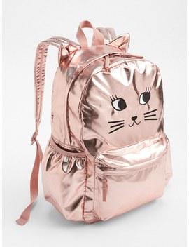 Cat Metallic Senior Backpack by Gap