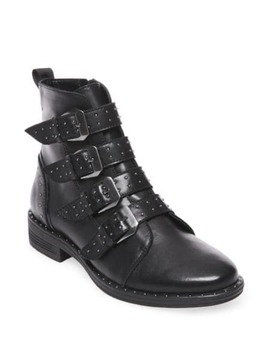 Granite Leather Boots by Steve Madden