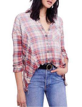 Juniper Ridge Plaid Herringbone Shirt by Free People