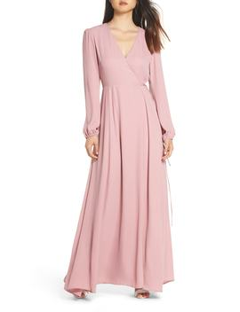 Lila Long Sleeve Wrap Gown by Wayf
