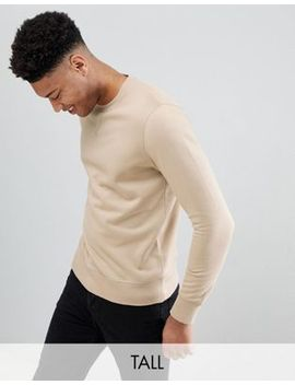 Brave Soul Tall Basic Crew Neck Sweat by Sweatshirt