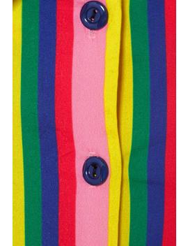 Alice Tie Front Striped Stretch Cotton Poplin Dress by Staud