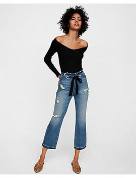 Express One Eleven Off The Shoulder V Neck Tee by Express