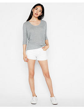 Express One Eleven Soft Knit Twist Front London Tee by Express