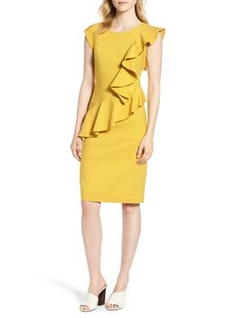 ruffle-trim-sheath-dress by emerson-rose