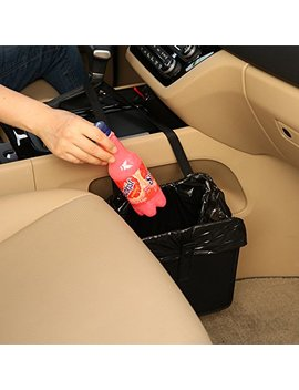 Kmmotors Jopps Comfortable Car Garbage Can Portable Drive Bin Premium Hanging Wastebasket Seat Back Organizer by Kmmotors