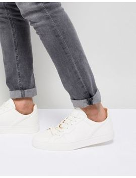 Nicce Langham Sneakers In White by Nicce London