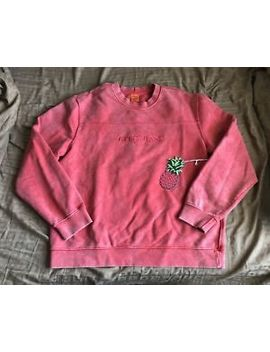 Guess Jeans Farmers Market Red Crewneck Medium Stripe Shirt Ships Free by Guess