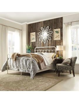 Calabria White King Bed Frame by Home Sullivan