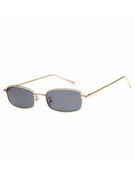 Vintage Square Sunglasses Metal Small Rectangular Frame Glasses Women Fashion by Unbranded