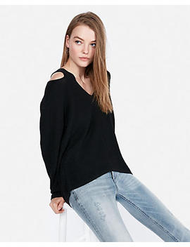Slash Shoulder Tunic Sweater by Express