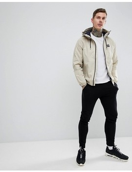 Pull&Bear Waterproof Hooded Jacket In Stone by Pull&Bear