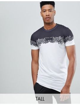 Criminal Damage T Shirt In White With Baroque Panel Exclusive To Asos by Criminal Damage's