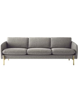 Hoxton Grey Sofa by Crate&Barrel