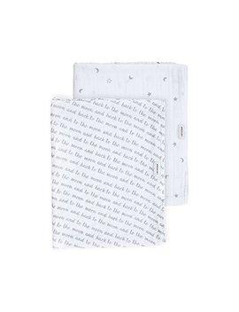 Bebe Au Lait Premium Muslin Swaddle Blanket Set, Love And Luna by Bebe Au Lait