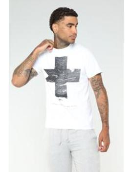 Cross 75 Short Sleeve Tee   White by Fashion Nova