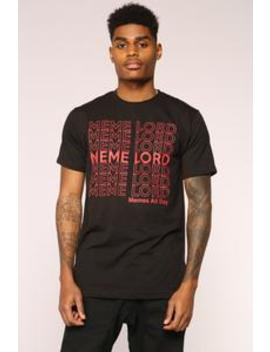 Meme Lord Short Sleeve Tee   Black/Red by Fashion Nova