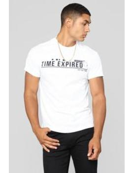 Time Expired Tee   White by Fashion Nova