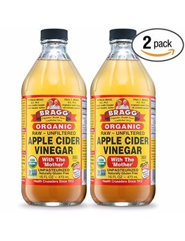 Bragg Usda Organic Raw Apple Cider Vinegar, With The Mother 16 Ounces Natural Cleanser, Promotes Weight Loss   Pack Of 2 by Bragg