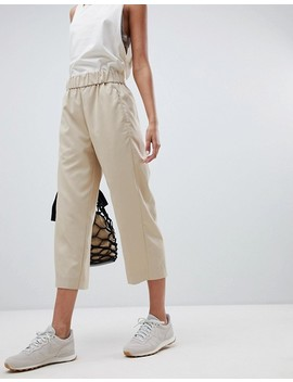 Weekday Cropped Woven Wide Leg Pants by Weekday