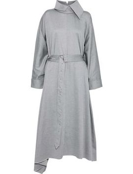 Oversized Belted Cotton Twill Midi Dress by Marques' Almeida