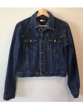 Vintage Tommy Jeans Womens Xl Jean Jacket Dark Wash Denim Tommy Hilfiger by Tommy Hilfiger